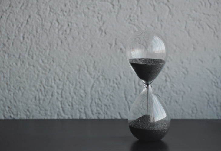 first year career opportunities key deadlines shot of an egg timer counting down