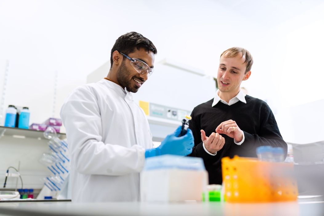 Two people on a top Pharmaceutical graduate scheme